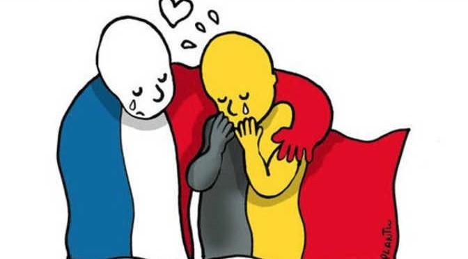 Priez pour la Belgique – Pray for Belgium