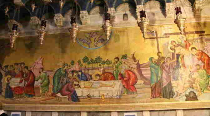 St Sépulcre- Fresque face entrée